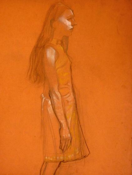Molly on Orange