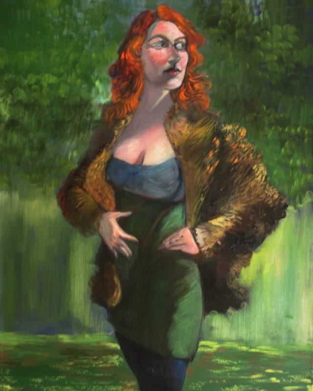Carolyn in Fur Coat